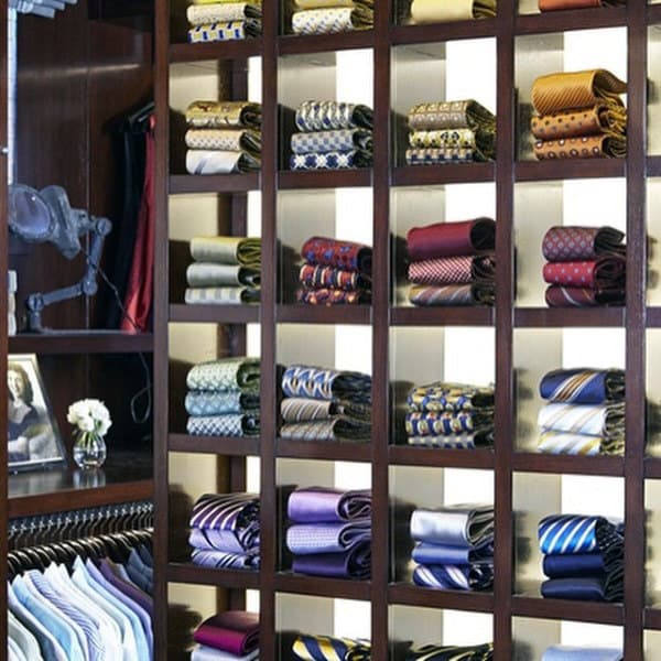 Cool Mens Tie Rack In Closet