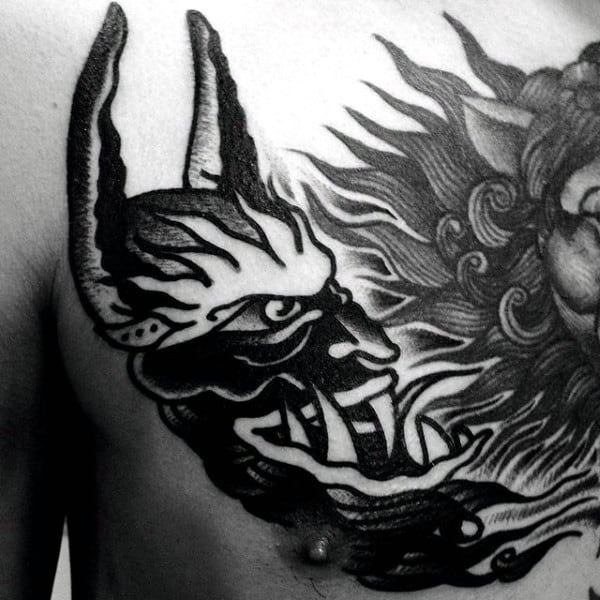 acf7b0c54d437 90 Demon Tattoos For Men - Devilish Exterior Design Ideas