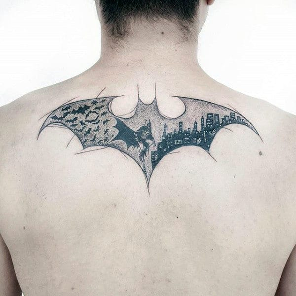 50 Cool Tattoo Ideas For Awesome Inspiration: 50 Batman Symbol Tattoo Designs For Men