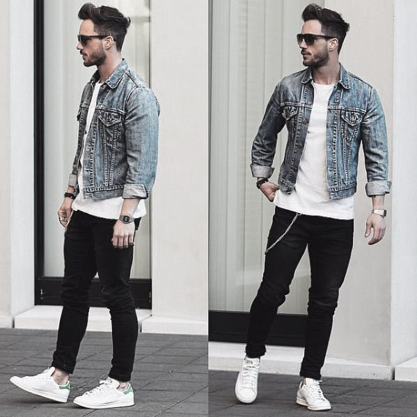 f0b505f7e2 Cool Mens What To Wear With Black Jeans And Denim Jacket Outfits Style  Inspiration