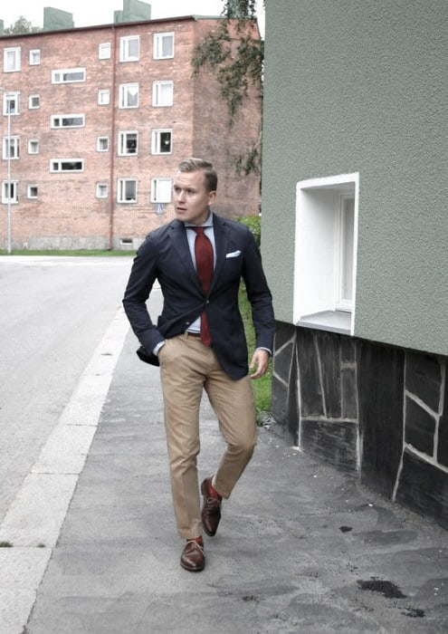 Cool Mens What To Wear With Khaki Pants Navy Blazer Outfits Style Inspiration