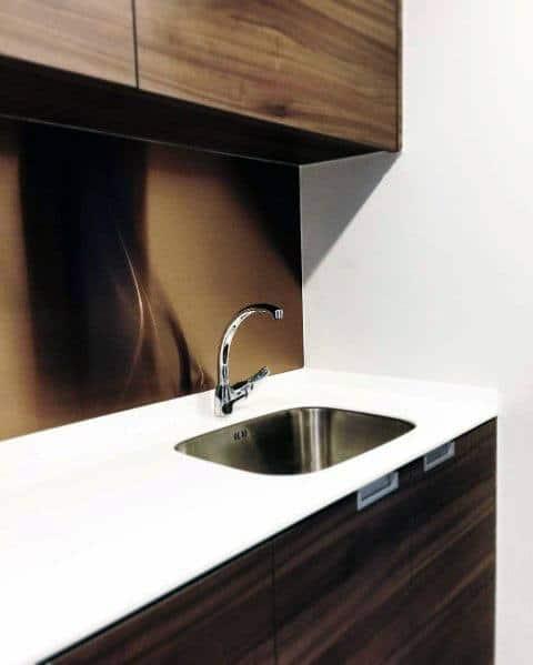 Cool Metal Backsplash Design Ideas Modern Copper Sheet