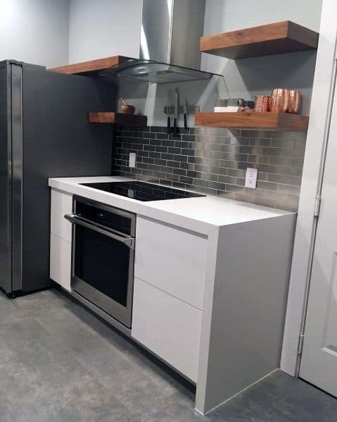 Cool Metal Backsplash Stainless Steel Subway Tiles