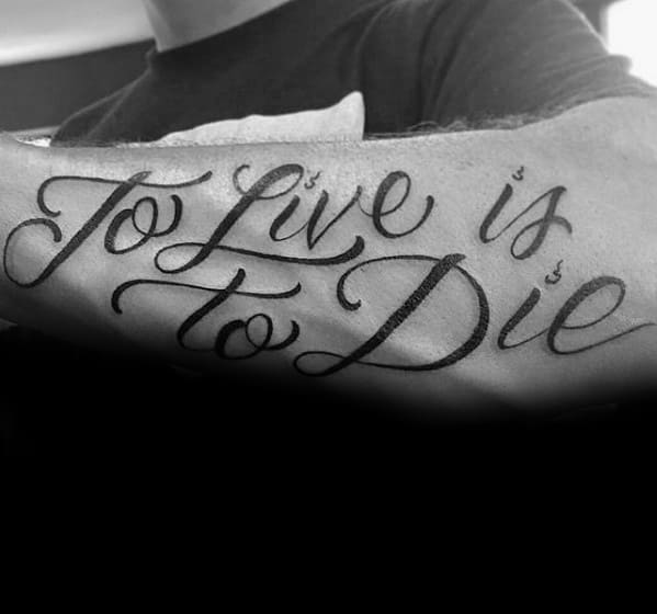 Cool Metallica To Live Is To Die Forearm Tattoo Design Ideas For Male