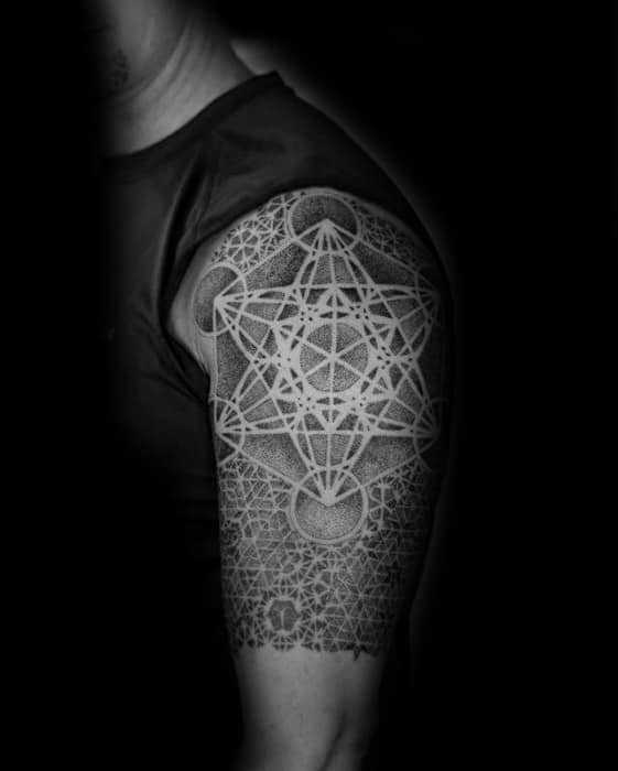 Cool Metatrons Cube Tattoo Design Ideas For Male