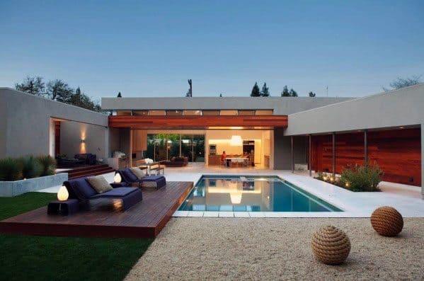 Cool Modern Deck By Pool