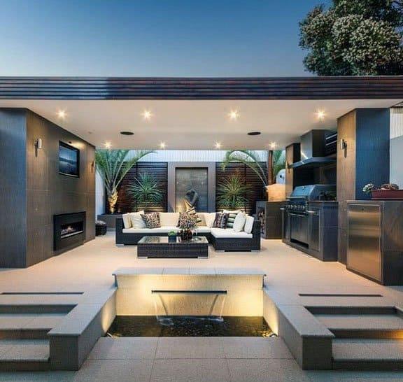 Top 70 Best Modern Patio Ideas - Contemporary Outdoor Designs on Modern Backyard Patio id=73061