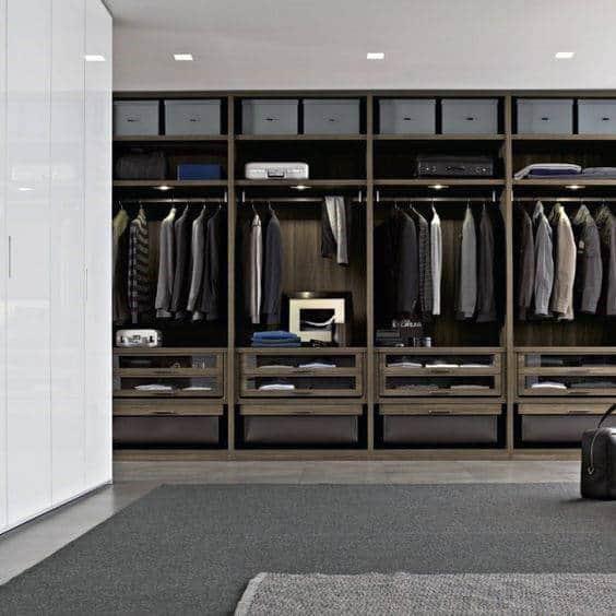 Cool Modern Walk In Closets For Gentlemen