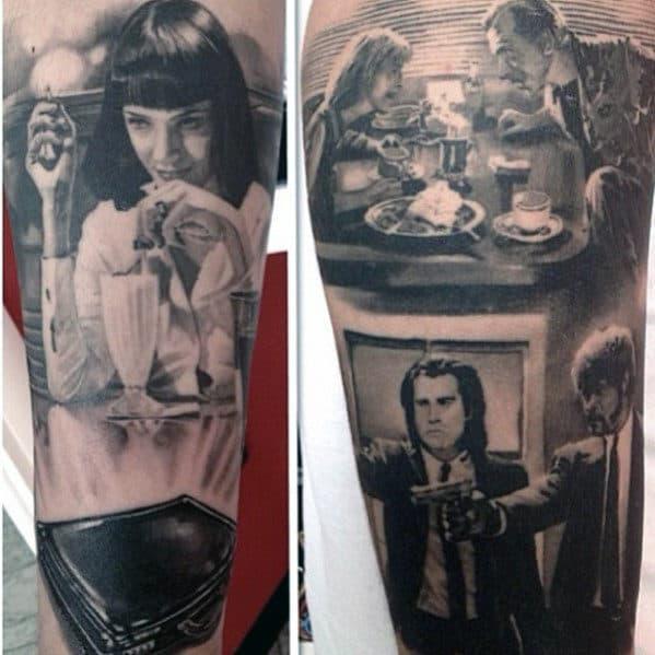 Cool Movie Scene Pulp Fiction Mens Sleeve Tattoo