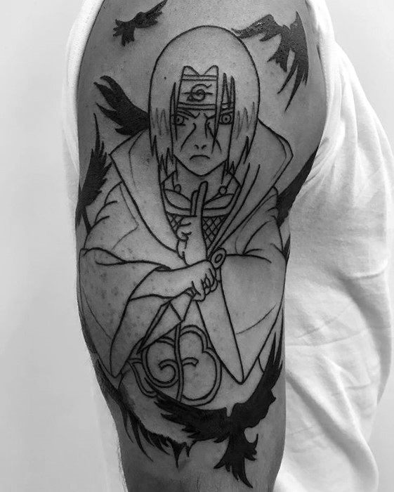 Cool Naruto Tattoo Design Ideas For Male On Arm
