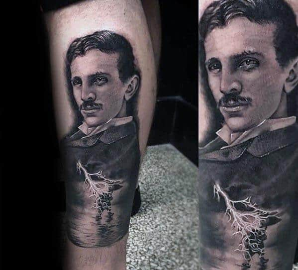 Cool Nikola Tesla Tattoo Design Ideas For Male