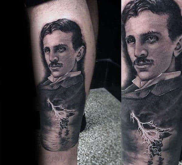 Cool Nikola Tesla Tattoo Design Ideas For Male