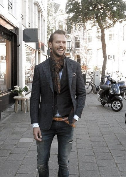 Cool Outfit Ideas For Men With Casual Wear Charcoal Blazer