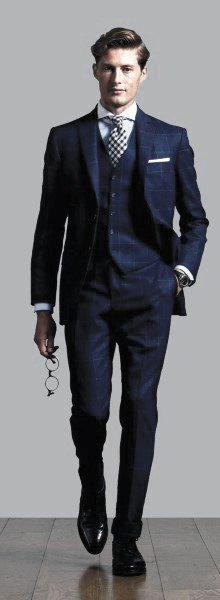 Cool Outfit Ideas For Men With Navy Blue Suit