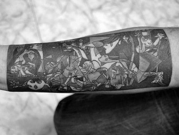 Cool Pablo Picasso Tattoo Design Ideas For Male Forearm Sleeve
