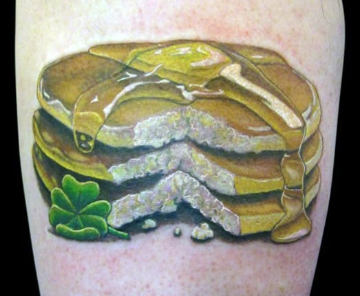 Cool Pancake Tattoos For Men