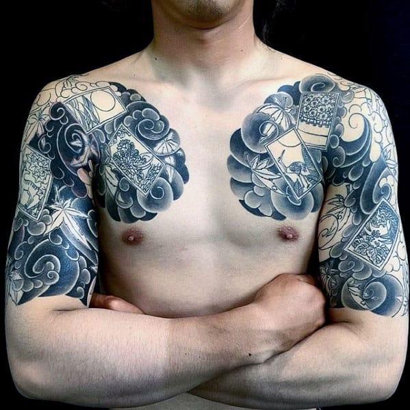 Cool Photograph Themed Mens Half Sleeve Japanese Tattoo Ideas