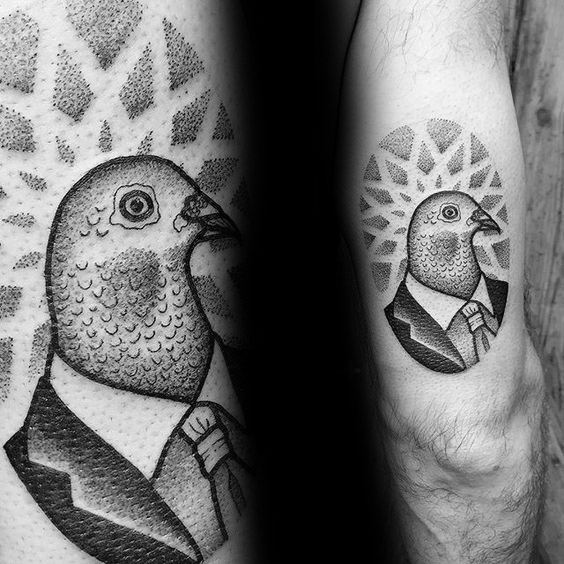 Cool Pigeon Tattoo Design Ideas For Male