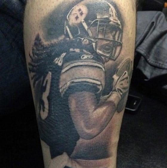 Cool Pittsburgh Steelers Football Leg Tattoos For Men