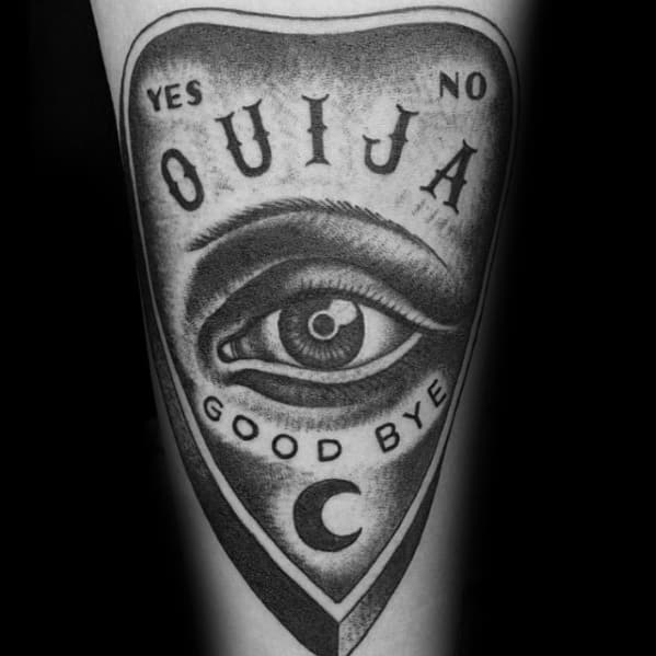 Cool Planchette Forearm Dotwork Tattoo Design Ideas For Male