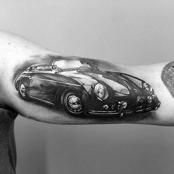 40 Porsche Tattoo Ideas For Men German Automobile Designs