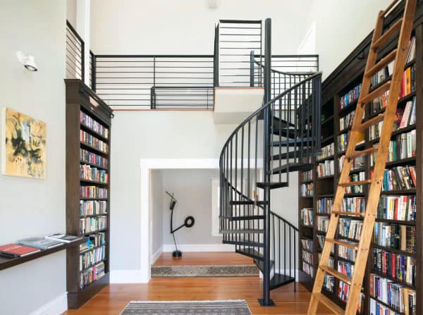 Cool Private Home Library Ideas With Ladder