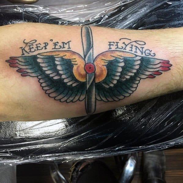 Cool Propeller Tattoos For Men