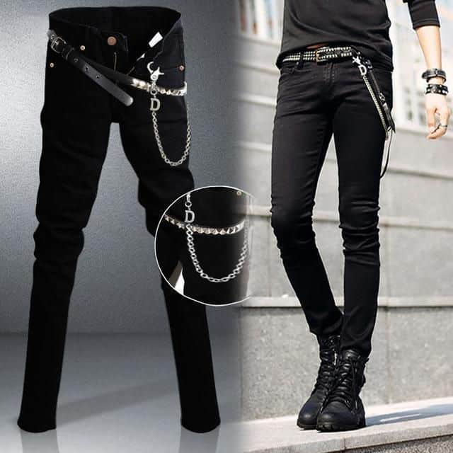 Punk pants with chains