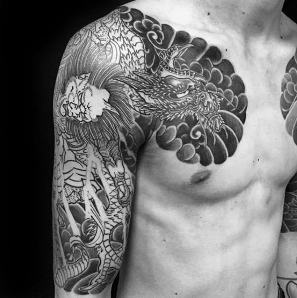 Cool Raijin Tattoo Design Ideas For Male