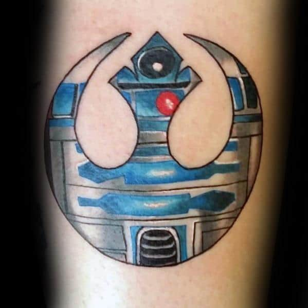 50 Rebel Alliance Tattoo Designs For Men Star Wars Symbol Ideas
