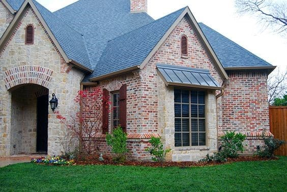 Cool Red Brick And Stone Exterior Design Ideas