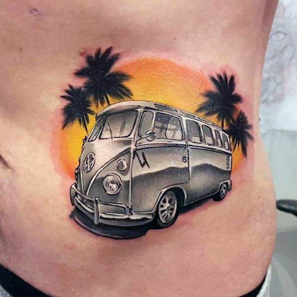 Cool Rib Cage Side Of Body Volkswagen Wv Tattoo Design Ideas For Male