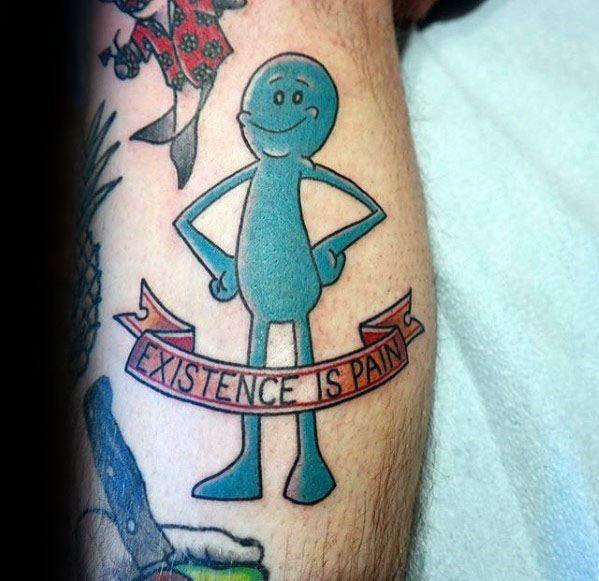 Cool Rick And Morty Mr Meeseeks Tattoos For Men