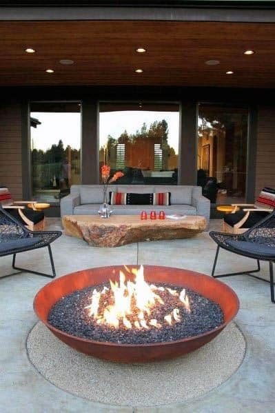 Cool Round Patio Firepit Design Ideas