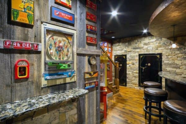Cool Rustic Awesome Man Cave Design Ideas For Gentlemen In Basement
