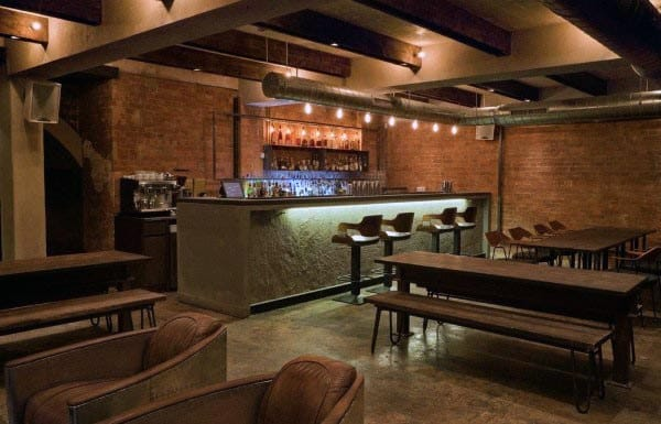 Cool Rustic Basement Bar Ideas