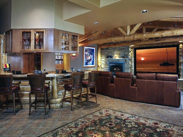 Cool Rustic Basement Ideas