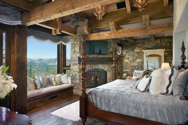 Cool Rustique Chambre à coucher des Idées