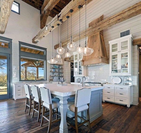 Cool Rustic Ceiling Design Ideas Kitchen