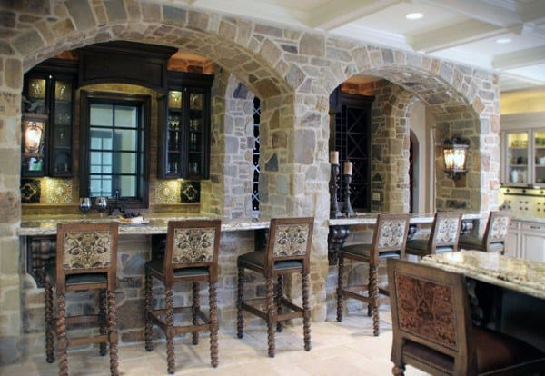 Cool Rustic Home Bar Ideas