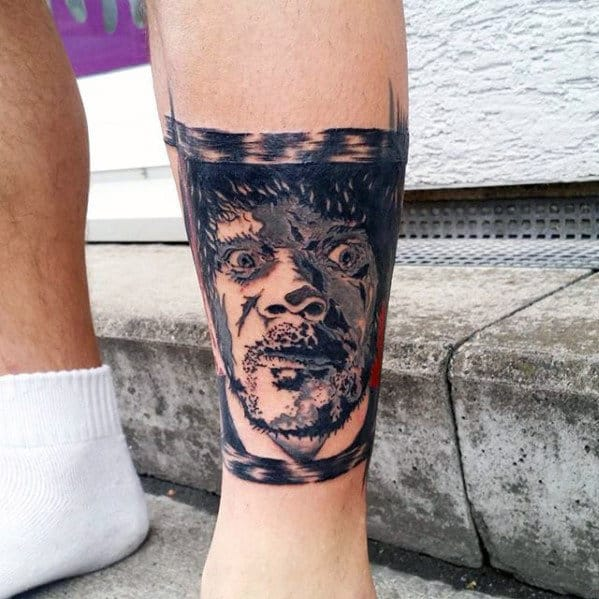 Cool Samuarl L Jackson Mens Pulp Fiction Leg Band Tattoo