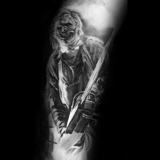 Cool Scary Movie Tattoos For Men