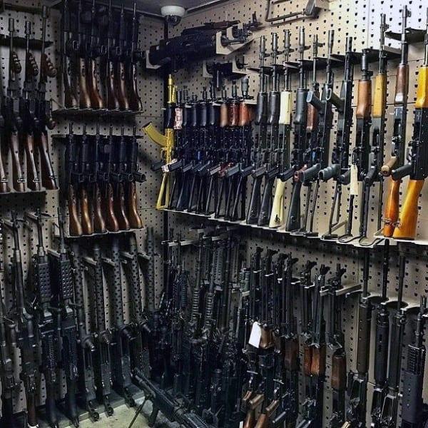 Cool Shelving For Gun Room Firearms