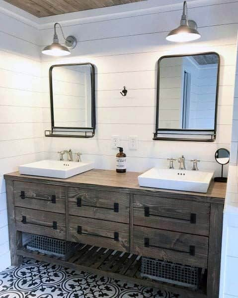 Cool Shiplap Bathroom Design Ideas