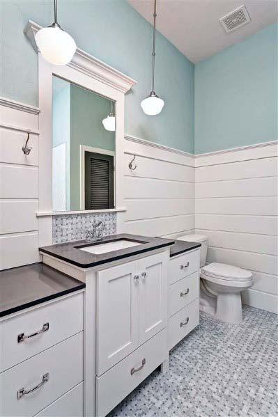 Top 50 Best Shiplap Bathroom Ideas - Nautical Inspired ...