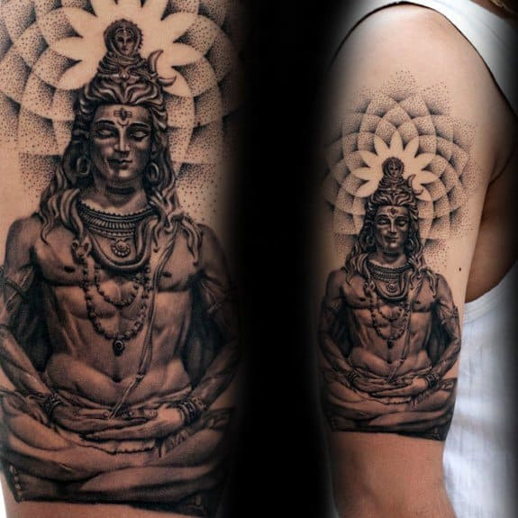 Cool Shiva Tattoo Design Ideas For Male On Arm