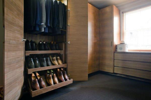 Cool Shoe Rack Wood Closet For Guys