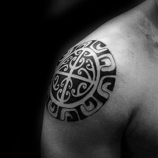 Cool Shoulder Cap Different Tribal Mens Tattoo Ideas