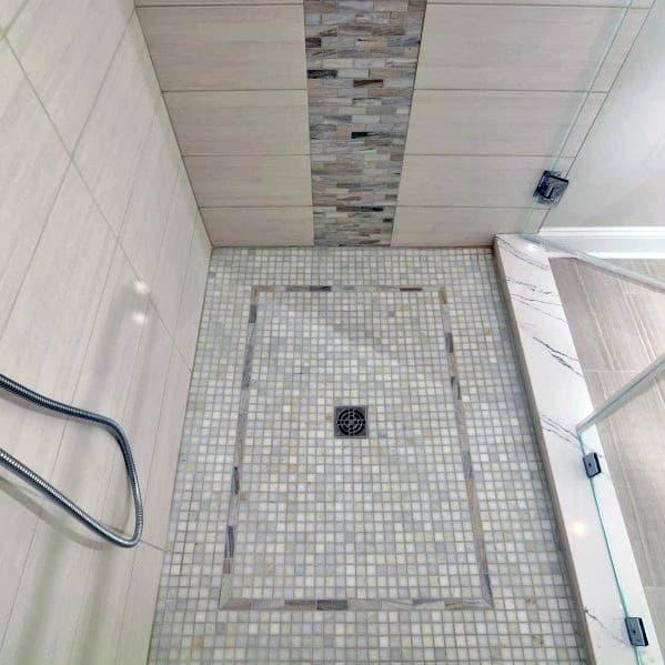 Cool Shower Floor Mosiac Tile