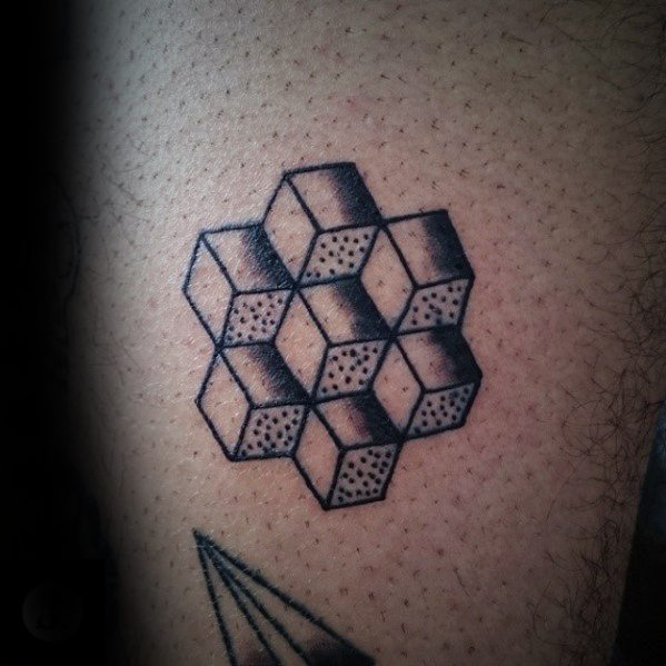 Cool Simple Arm Geometric Tattoos For Men